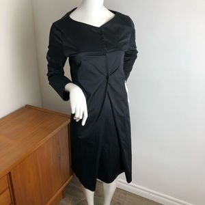 COS Black Cotton Shirt Dress Long Sleeve Career